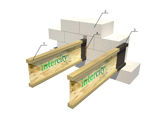 Монтаж деревянных двутавровых балок
