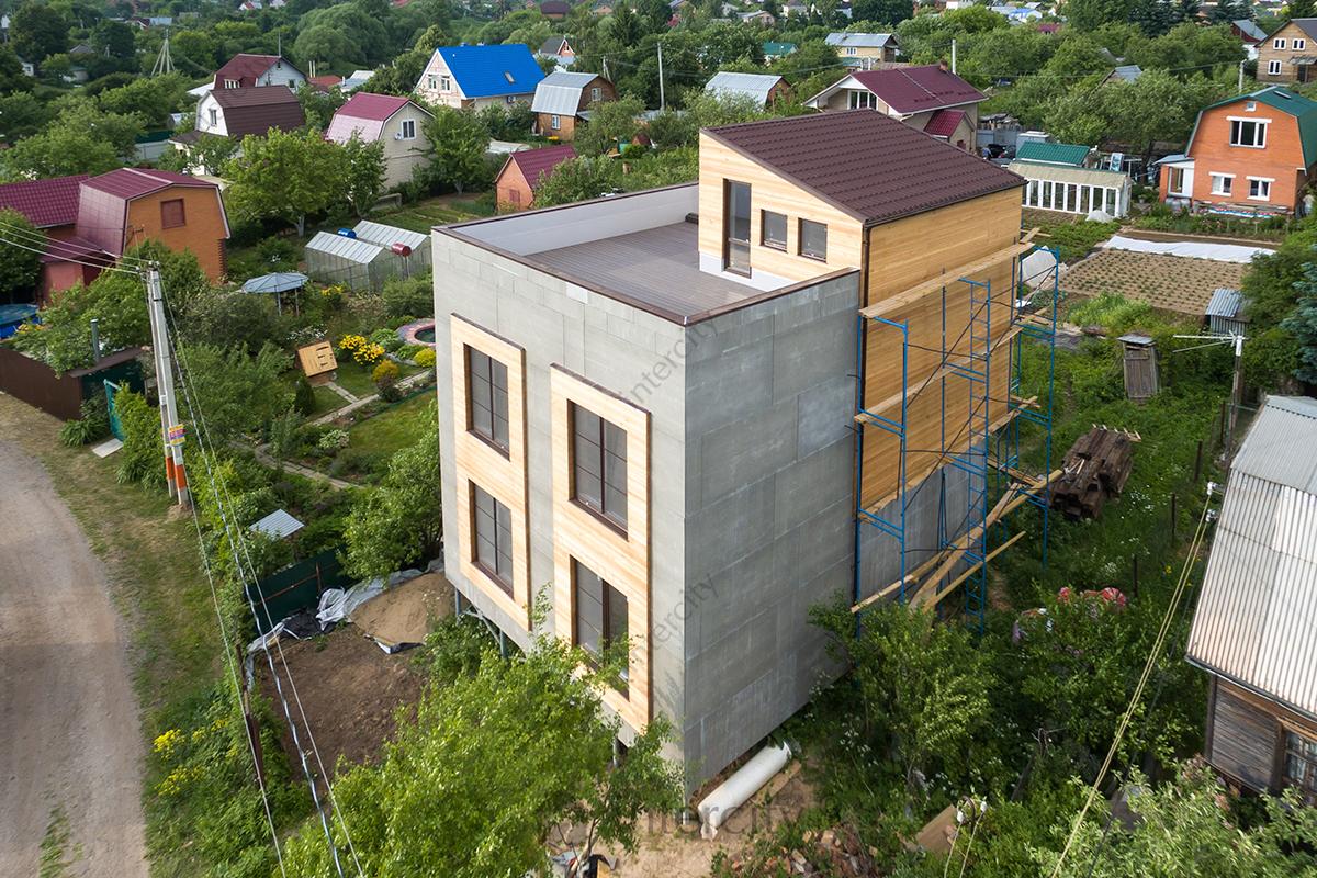 крыша для дома из СИП панелей