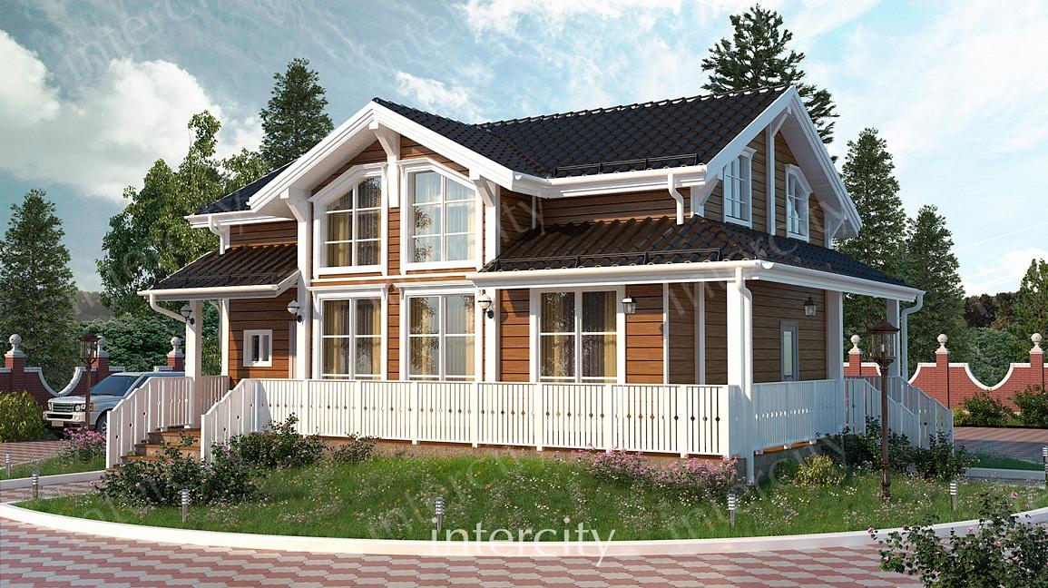 Монтаж деревянного каркасного дома